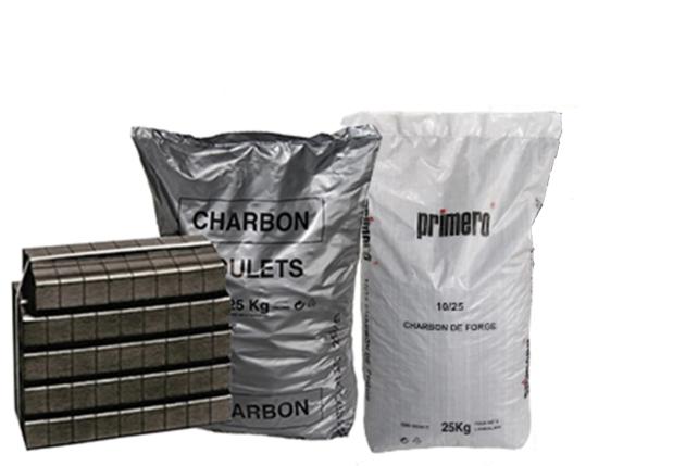 charbon de forge et charbon traditionnel en sac livraison de charbon avec Leverger combustibles