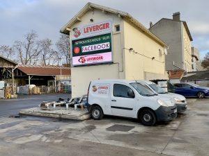 Plan d'accès au siège social Leverger combustibles à Maisons-Alfort