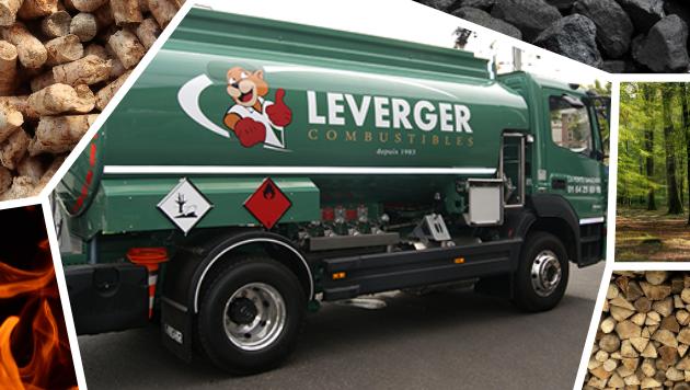 Camion Leverger combustibles et produits bois pellets granulés charbons bûches