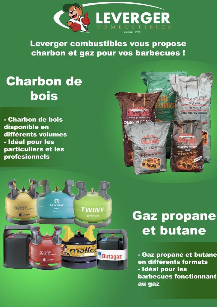 présentation charbon de bois et gaz pour barbecue leverger combustibles